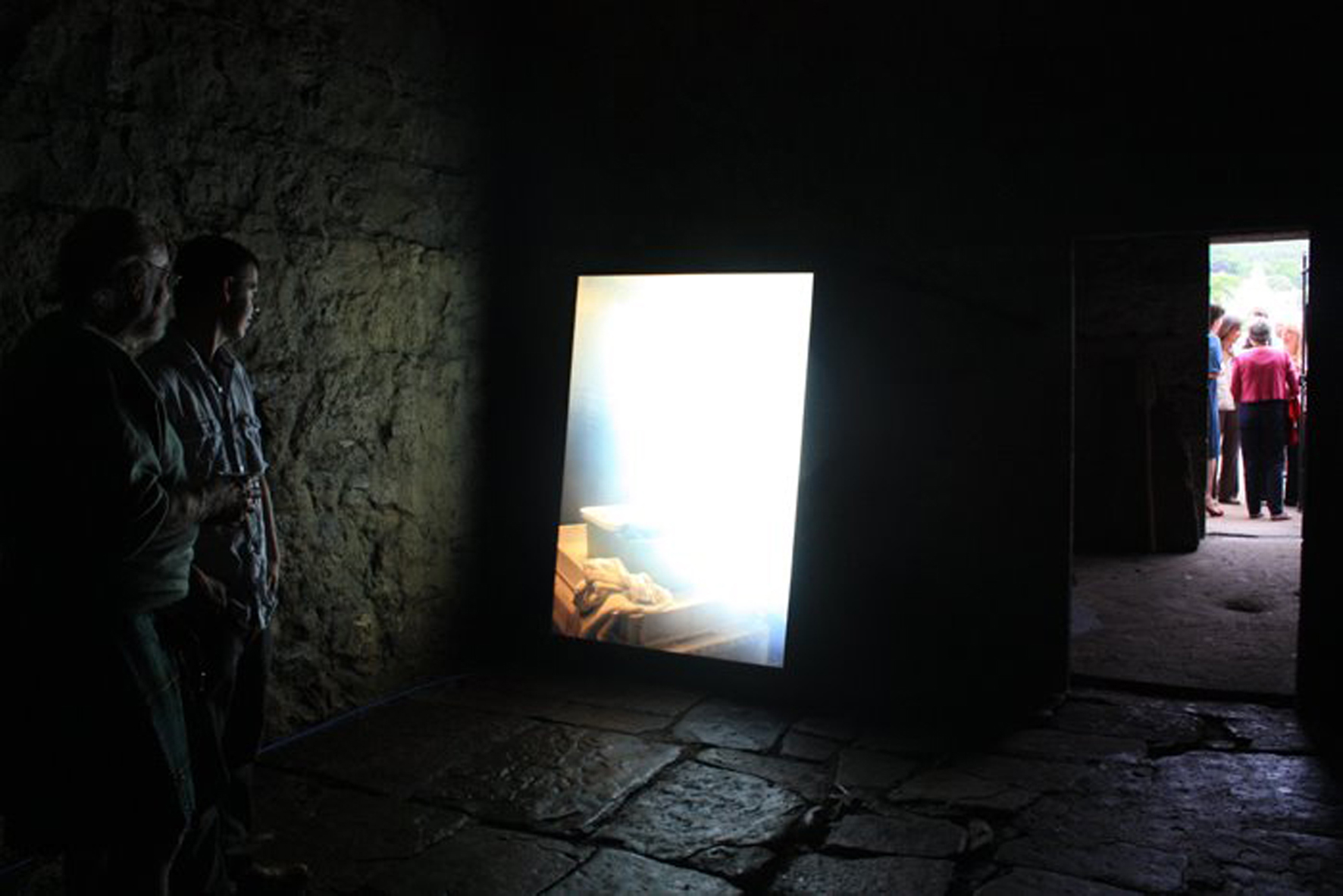 'Sandy' installed in the Ice house. Photo Ruth McDougall