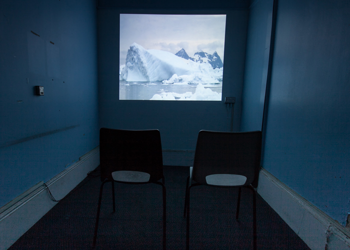 'Breathing berg' video installation inside St Clements hospital. Photo credit Shahed Saleem.