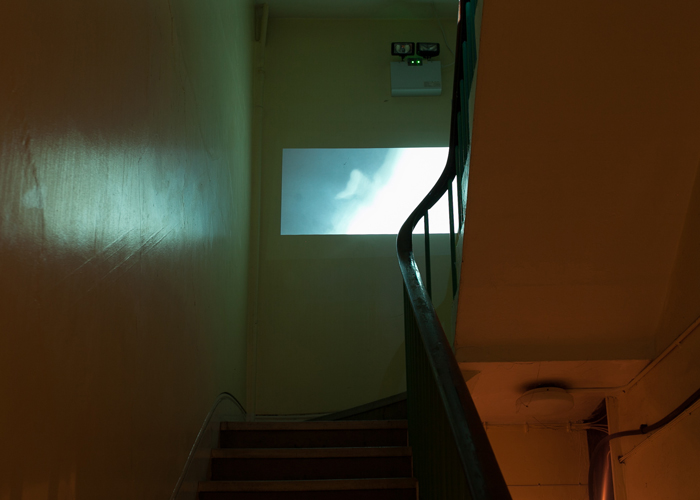 New 'Sweeping' video installation inside St Clements hospital. Photo credit Shahed Saleem.